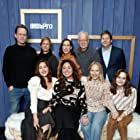 Reed Birney, Anne Carey, Liz Garbus, Amy Ryan, Miriam Shor, Dean Winters, Lola Kirke, Robert Kolker, and Oona Laurence at an event for The IMDb Studio at Acura Festival Village (2020)