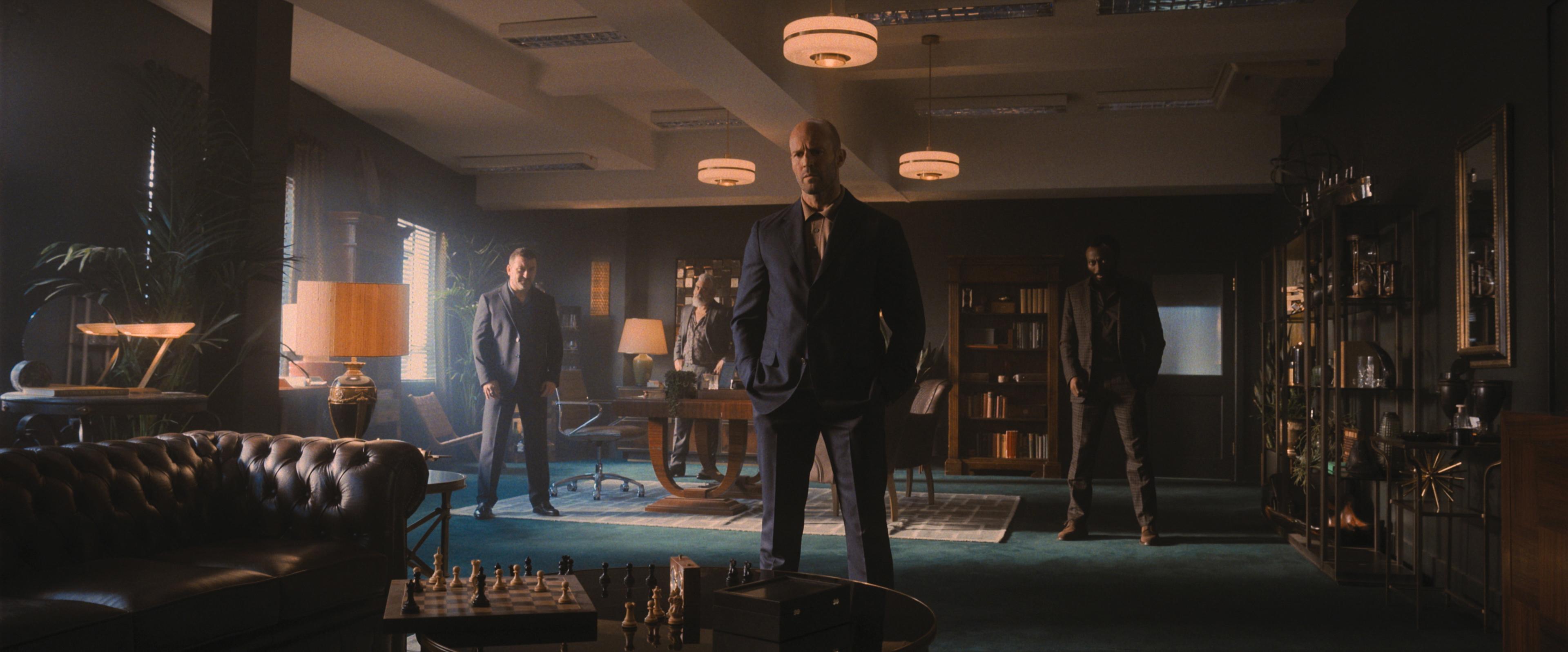 Jason Statham, Darrell D'Silva, Cameron Jack, and Babs Olusanmokun in Wrath of Man (2021)