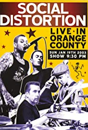 Social Distortion: Live in Orange County Poster