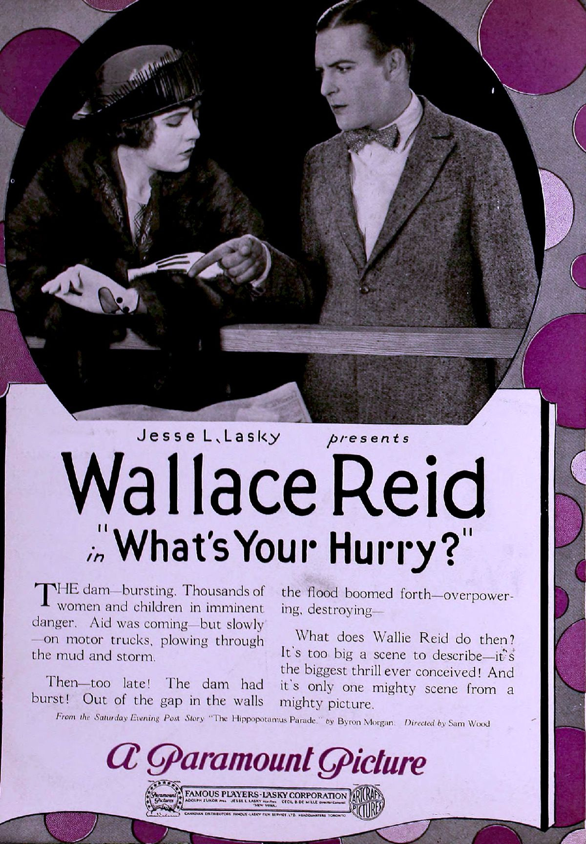 Wallace Reid and Lois Wilson in What's Your Hurry? (1920)