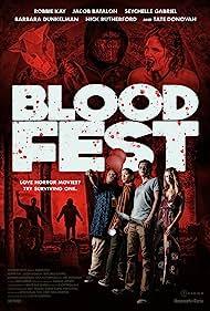 Tate Donovan, Zachary Levi, Robbie Kay, Seychelle Gabriel, and Barbara Dunkelman in Blood Fest (2018)