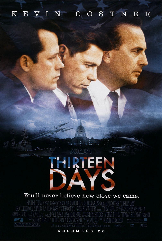 Thirteen Days 2000 Imdb Kaos Pria Pullampampbear Shirt Black Grey