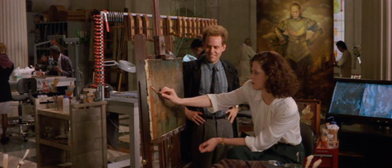 Sigourney Weaver and Peter MacNicol in Ghostbusters II (1989)