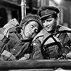 Richard Burton and Robert Newton in The Desert Rats (1953)