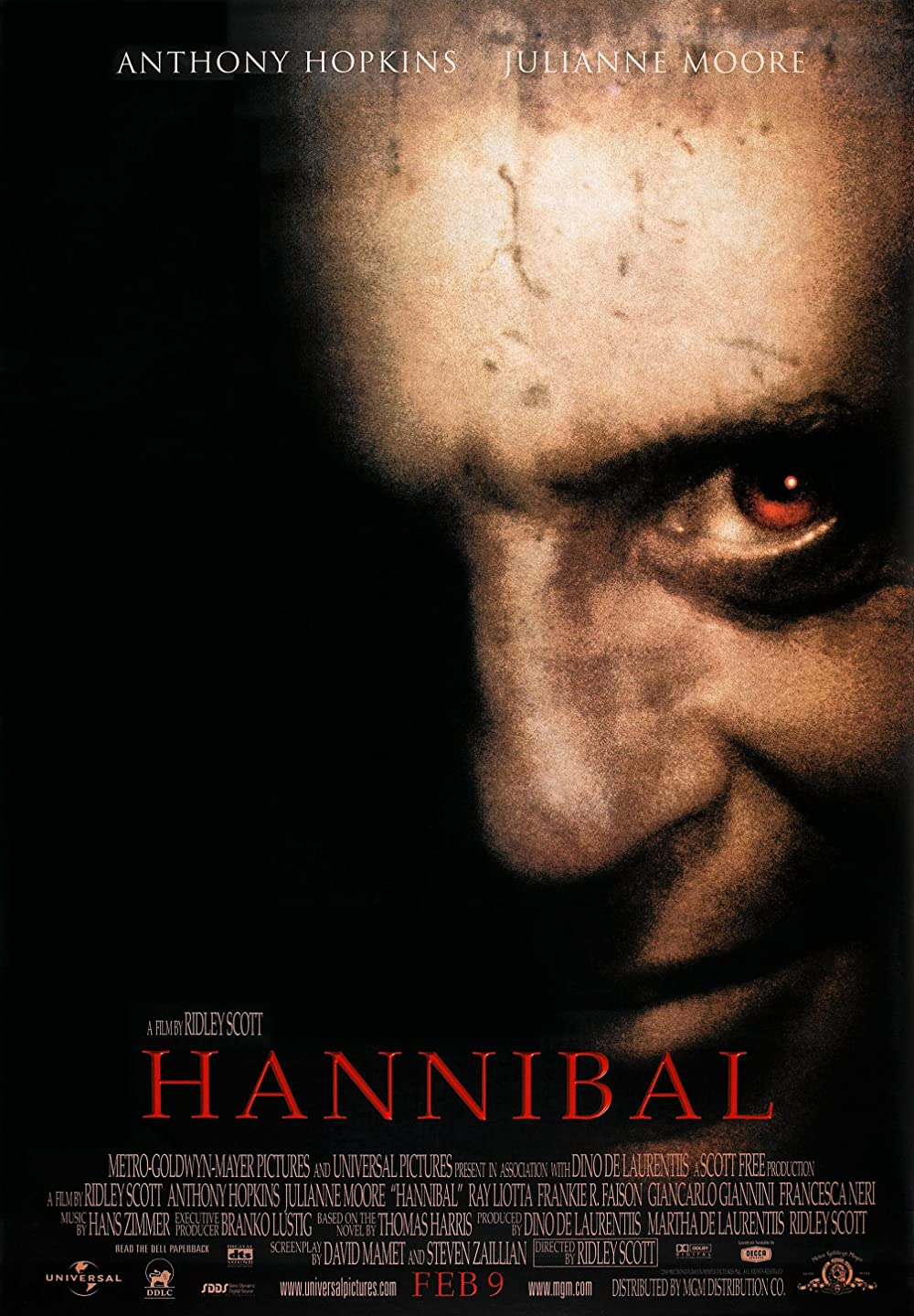 Hannibal 2001 Hindi Dual Audio 720p BluRay ESubs 995MB Download