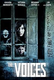 Lin Shaye, Brendan Sexton III, Victoria Matlock, Amanda Markowitz, and Juliana Sada in The Voices (2020)