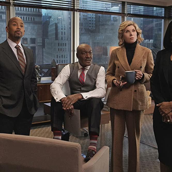 Christine Baranski, Delroy Lindo, Michael Boatman, and Audra McDonald in The Good Fight (2017)