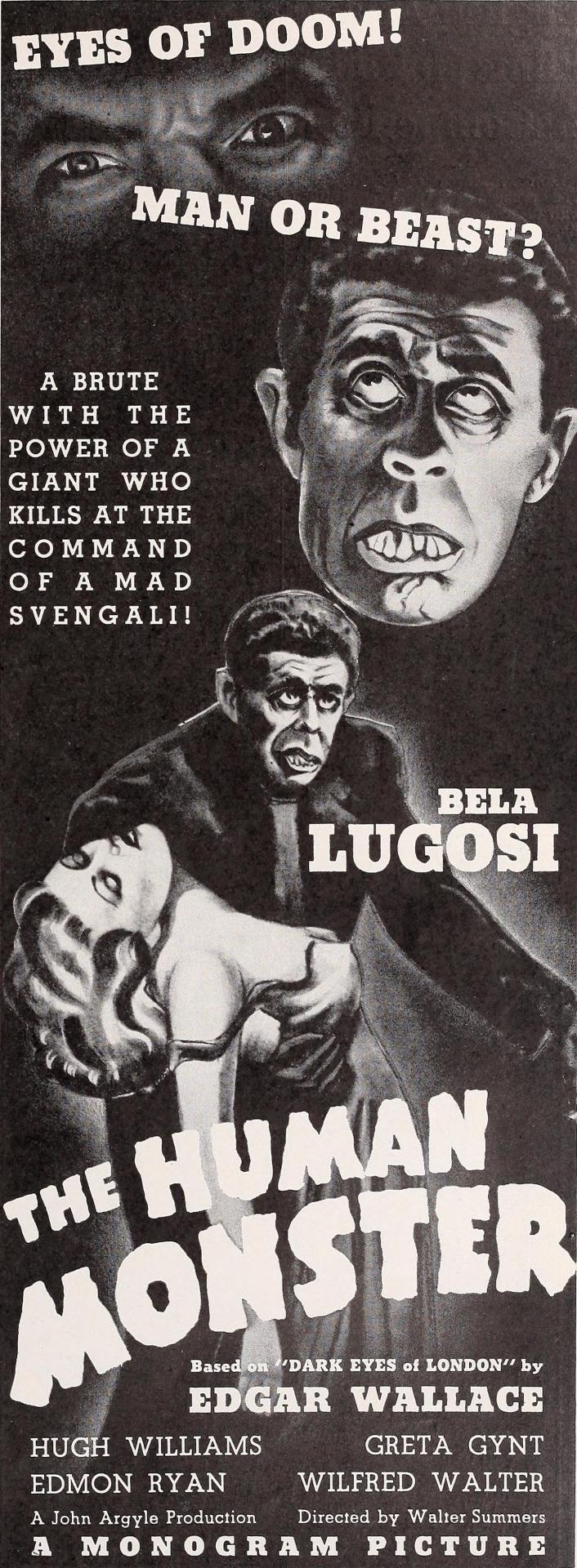 Bela Lugosi, Greta Gynt, and Wilfred Walter in The Dark Eyes of London (1939)