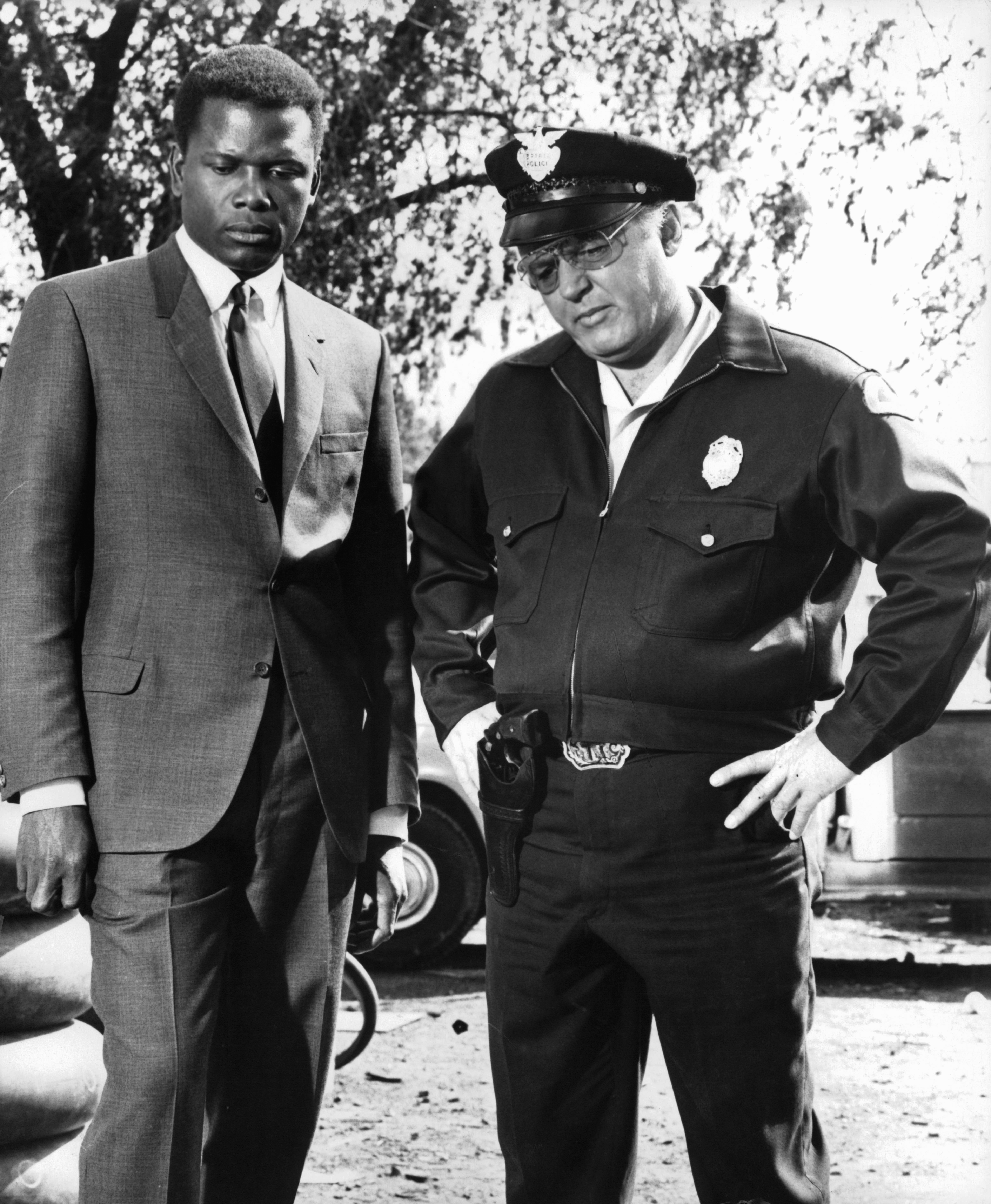 Sidney Poitier and Rod Steiger in In the Heat of the Night (1967)