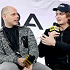 Eugene Kotlyarenko and Joe Keery at an event for Spree (2020)