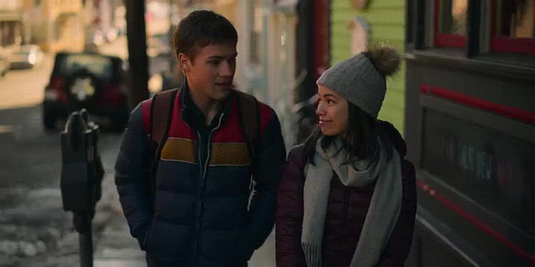 Genevieve Kang and Connor Jessup in Locke & Key (2020)