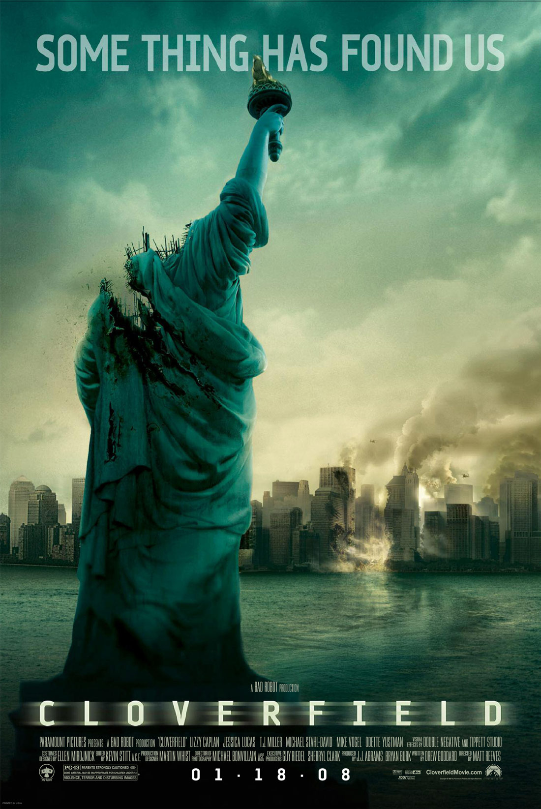 Image result for Cloverfield movie poster