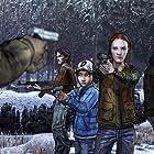 Melissa Hutchison, Gavin Hammon, Scott Porter, and Erin Yvette in The Walking Dead: The Game - Season 2 (2013)
