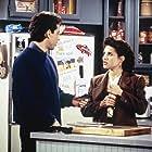 Julia Louis-Dreyfus and Jerry Seinfeld in Seinfeld (1989)