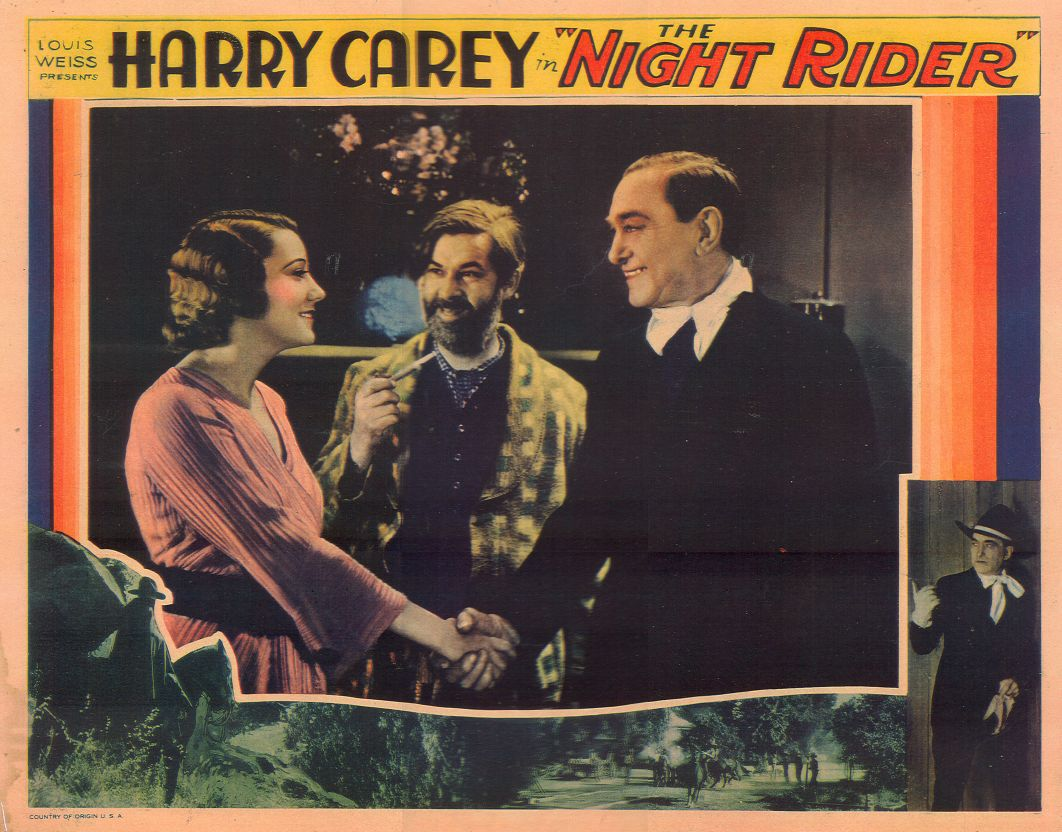 Harry Carey, Elinor Fair, and George 'Gabby' Hayes in The Night Rider (1932)