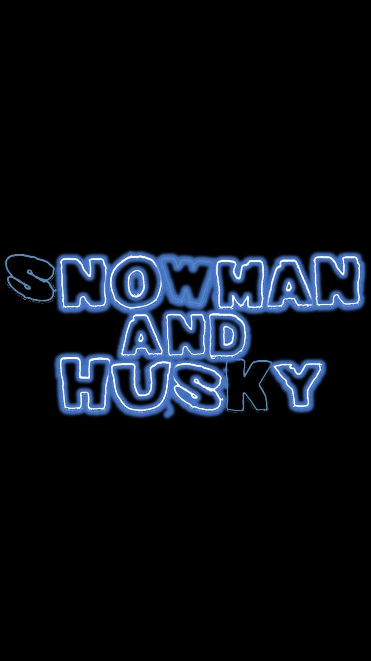 Snowman and Husky