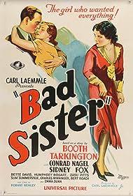 Bette Davis, Sidney Fox, and Conrad Nagel in Bad Sister (1931)