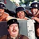 Henri Guybet, Jean Lefebvre, Pierre Mondy, and Pierre Tornade in On a retrouvé la 7ème compagnie ! (1975)