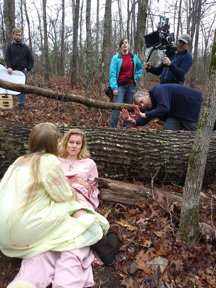 """On set in Georgia for """"9Realms: Angel of Death"""""""