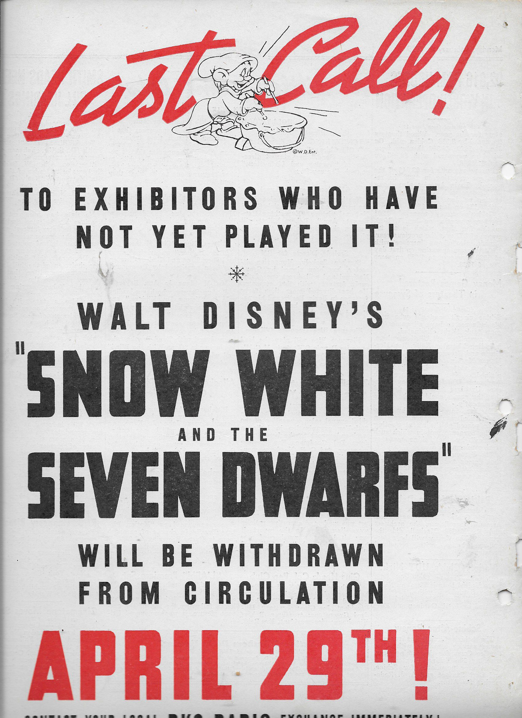 Eddie Collins in Snow White and the Seven Dwarfs (1937)
