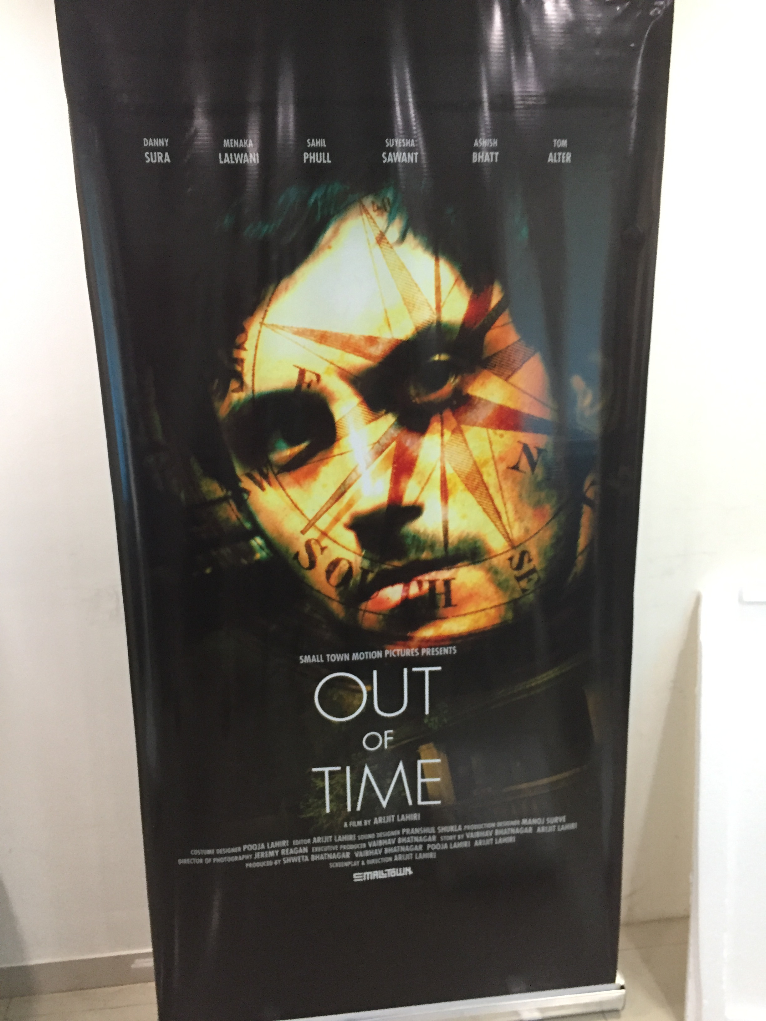 A poster from my upcoming feature film 'Out of Time'.