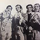 David Niven, Patrick Macnee, Robert Coote, and Jack Hawkins in The Elusive Pimpernel (1949)