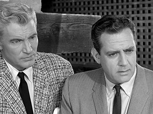 Raymond Burr and William Hopper in Perry Mason 1957