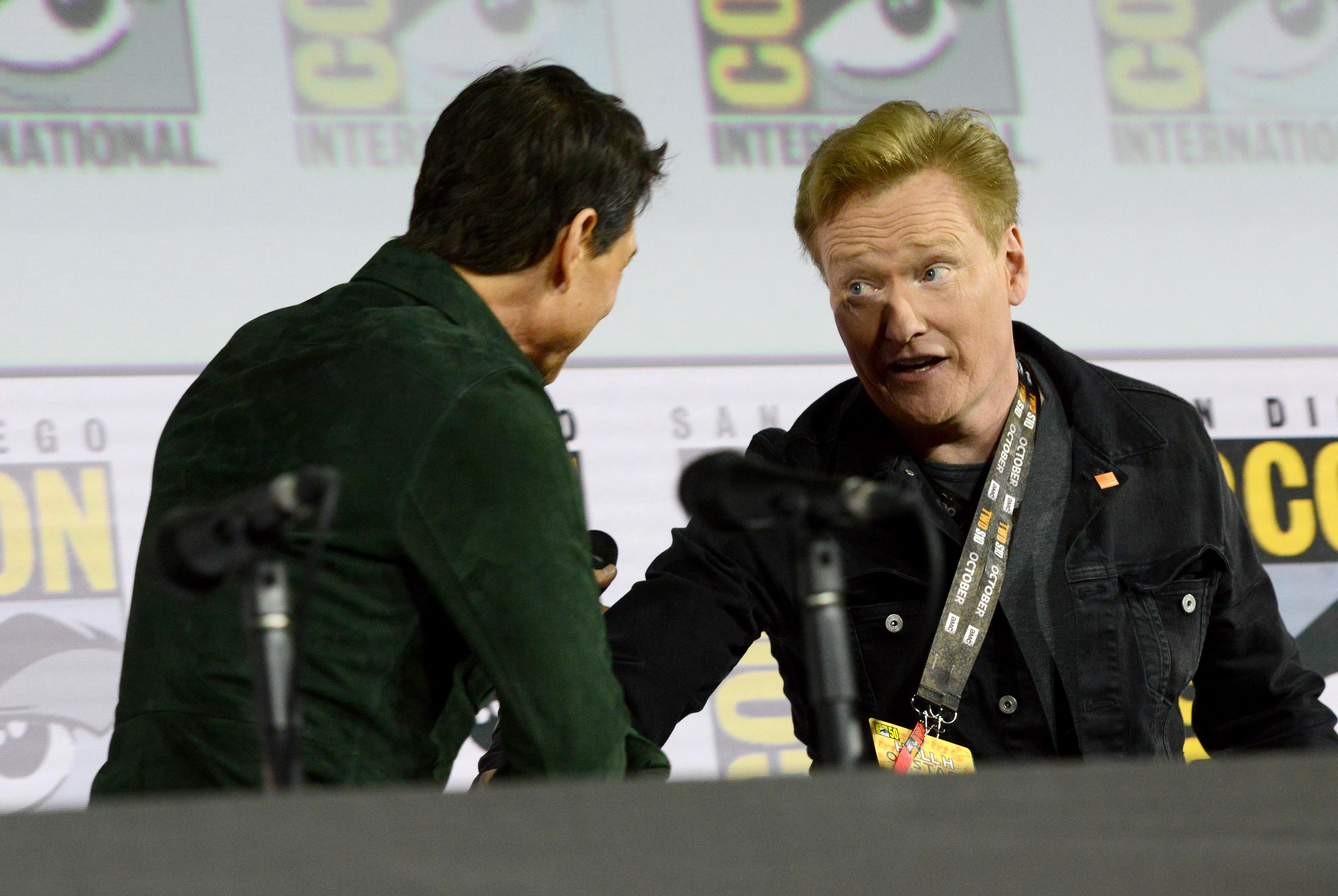 Tom Cruise and Conan O'Brien at an event for Top Gun: Maverick (2021)