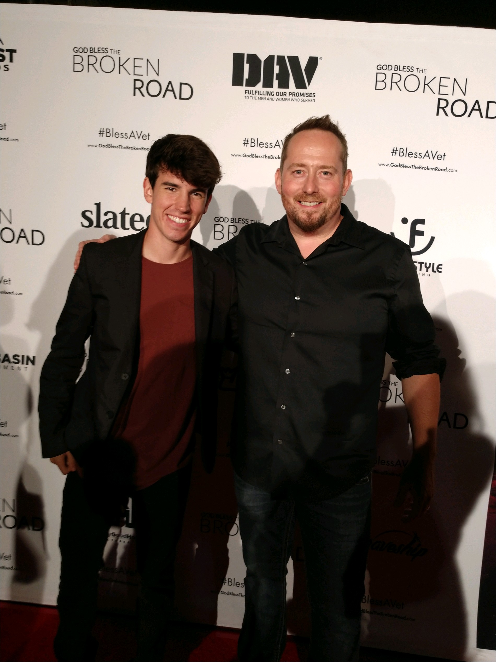 Derek Brandon with Director, Producer, Writer, Harold Cronk