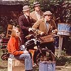 Poul Bundgaard, Morten Grunwald, Jes Holtsø, and Ove Sprogøe in Olsen-banden ser rødt (1976)