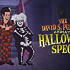 Tom Hanks, Bobby Moynihan, and Mikey Day in The David S. Pumpkins Halloween Special (2017)