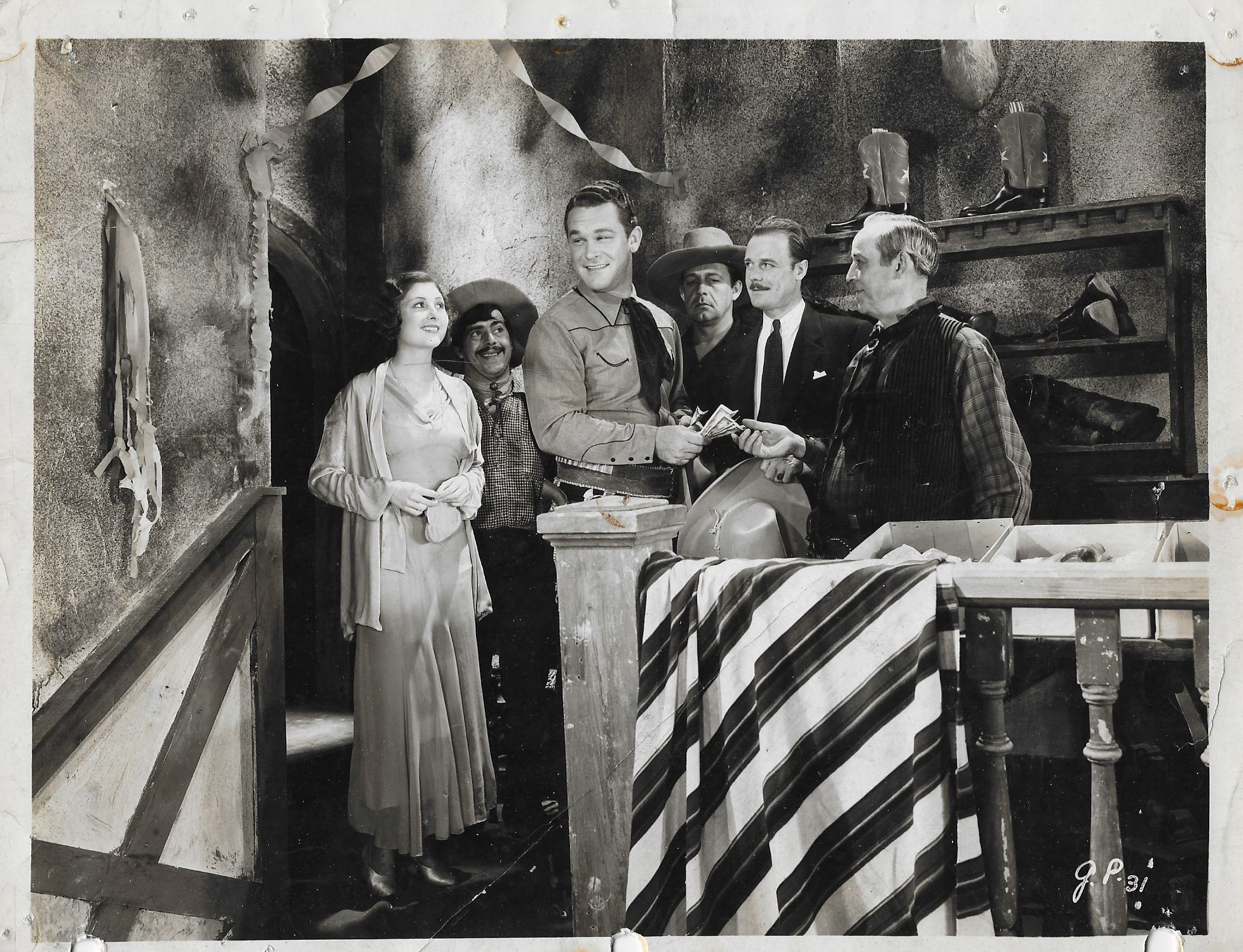 George Morrell, Marion Shilling, Hal Taliaferro, Guinn 'Big Boy' Williams, Roger Williams, and Frank Yaconelli in Gun Play (1935)