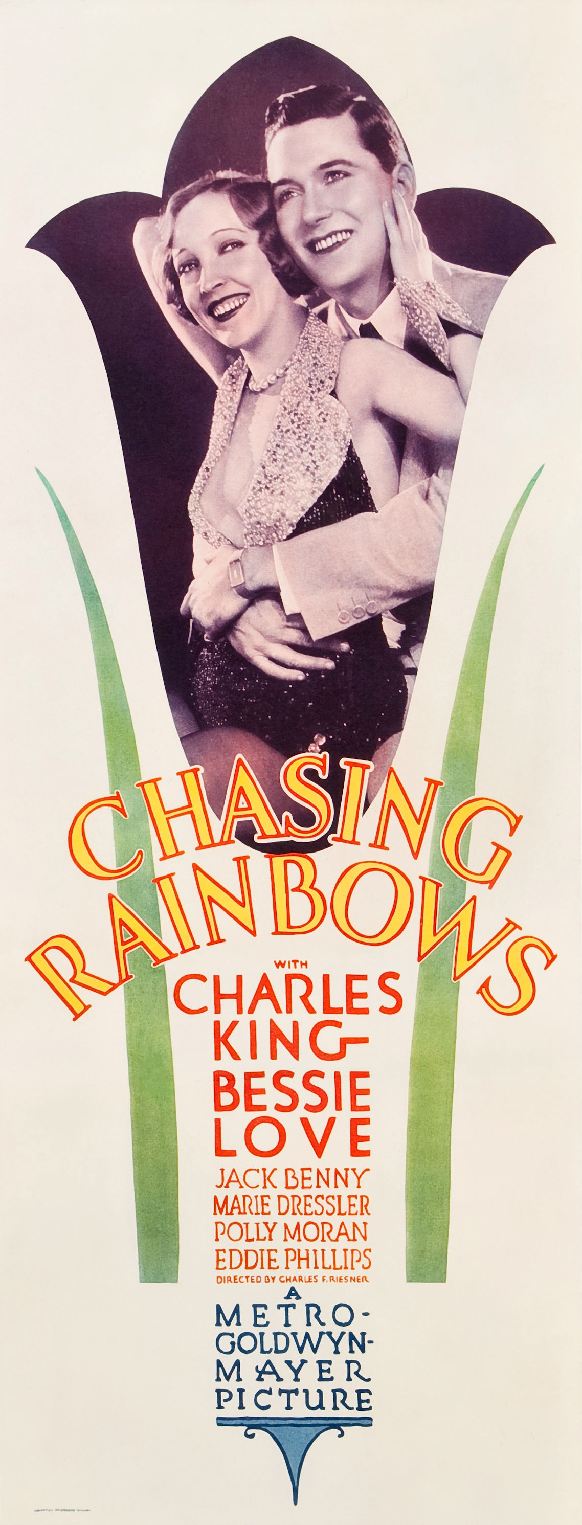 Charles King and Bessie Love in Chasing Rainbows (1930)