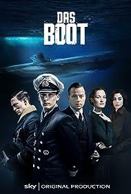 Lizzy Caplan, Tom Wlaschiha, Rick Okon, Vicky Krieps, and August Wittgenstein in Das Boot (2018)