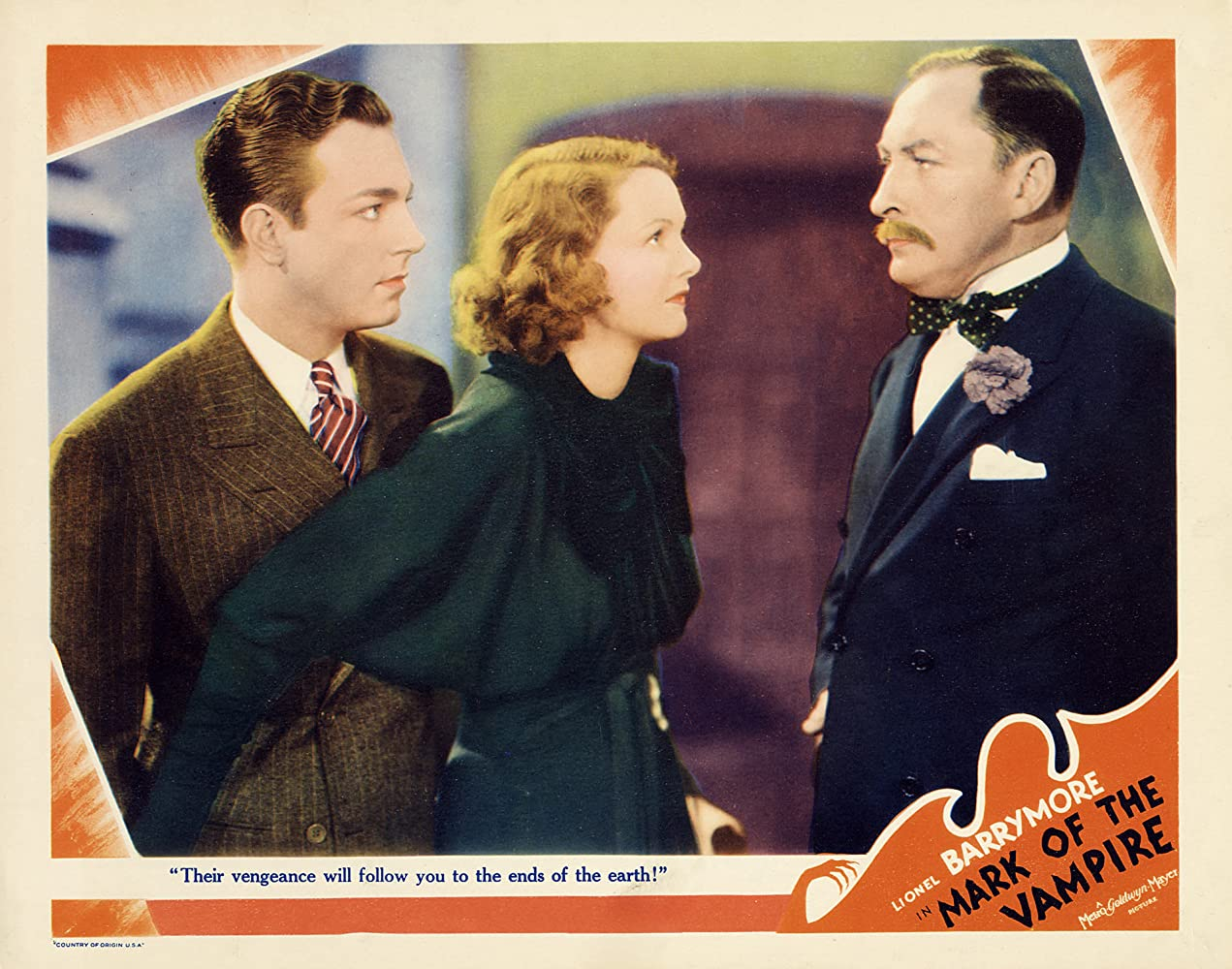 Elizabeth Allan, Lionel Atwill, and Henry Wadsworth in Mark of the Vampire (1935)