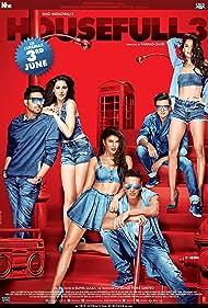 Abhishek Bachchan, Akshay Kumar, Riteish Deshmukh, Jacqueline Fernandez, Lisa Haydon, and Nargis Fakhri in Housefull 3 (2016)