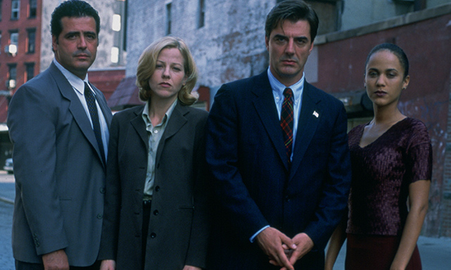 Dana Eskelson, John Fiore, Chris Noth, and Nicole Ari Parker in Exiled (1998)