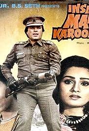 Insaaf Main Karoonga Poster