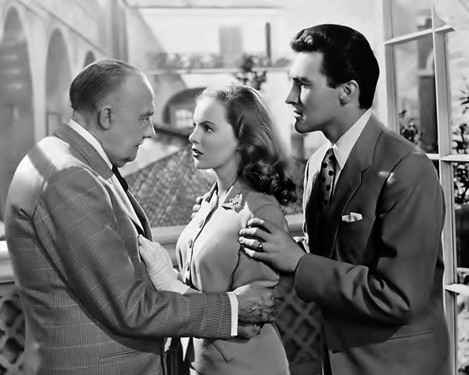 Peggy Cummins, Terence Morgan, and Ronald Squire in Always a Bride (1953)