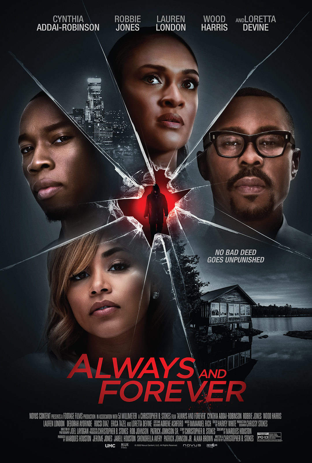 Robbie Jones, Cynthia Addai-Robinson, and Lauren London in Always and Forever (2020)