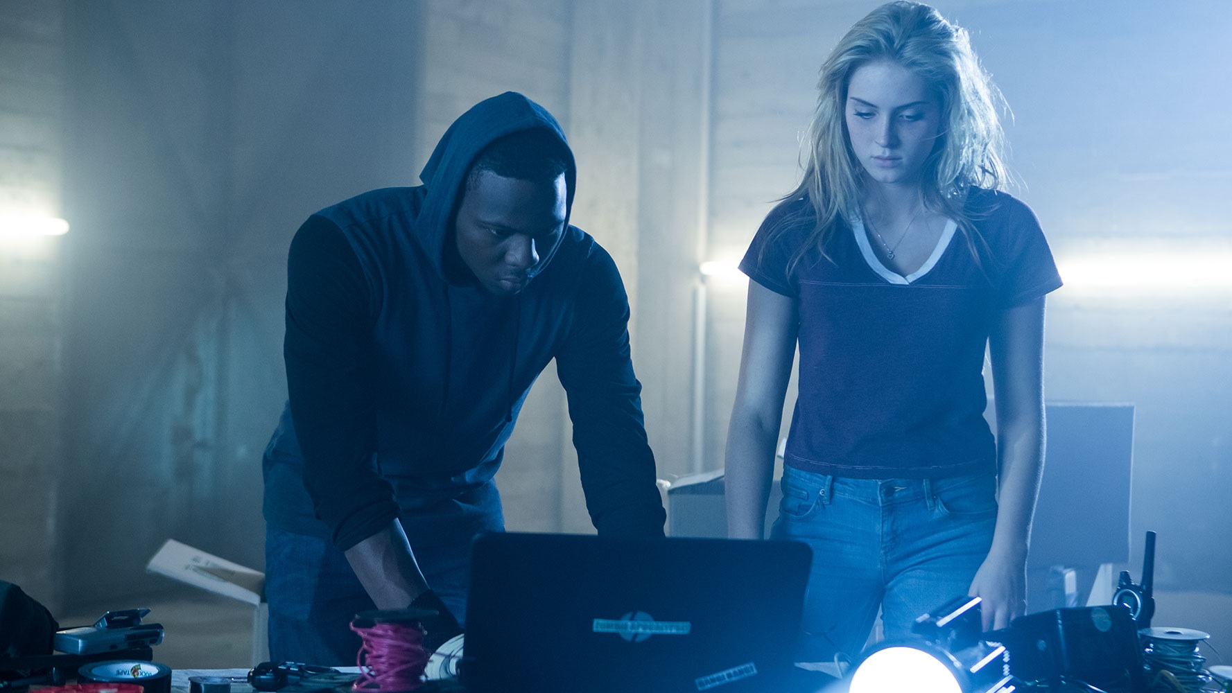 Saxon Sharbino and Mitchell Edwards in Bedeviled (2016)