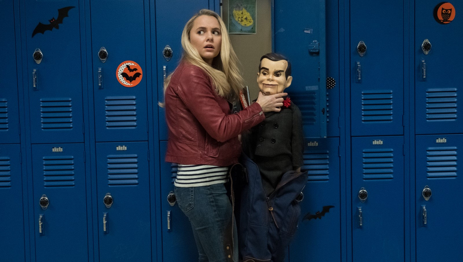 Mick Wingert and Madison Iseman in Goosebumps 2: Haunted Halloween (2018)