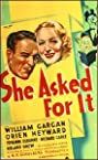 She Asked for It (1937) Poster