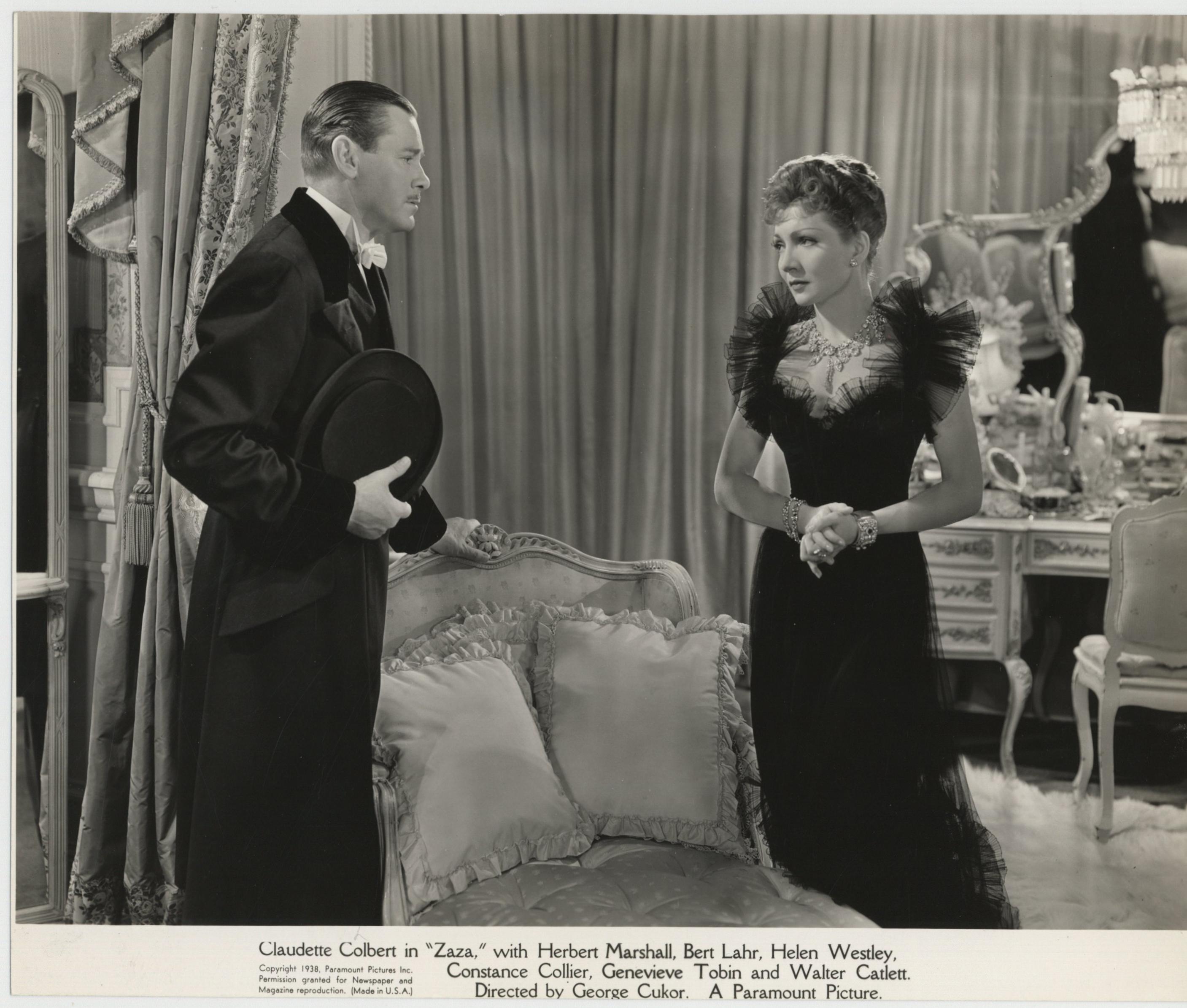 Claudette Colbert and Herbert Marshall in Zaza (1938)
