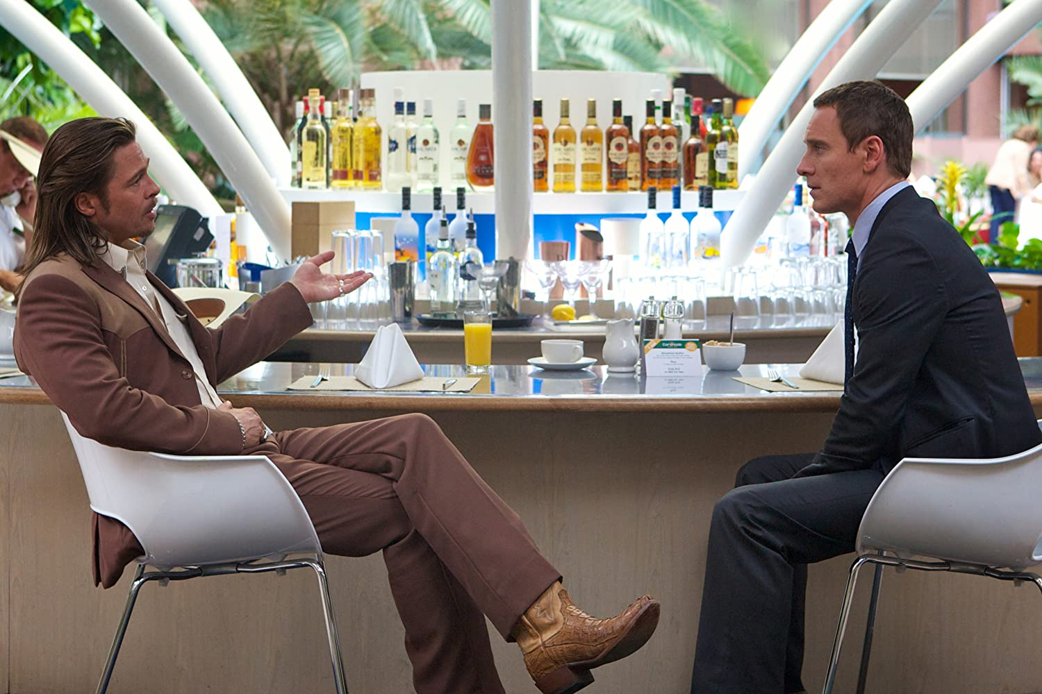 Brad Pitt and Michael Fassbender in The Counselor (2013)