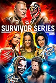 Rey Mysterio, Brock Lesnar, Pamela Martinez, Rebecca Quin, Shayna Andrea Baszler, and Windham Rotunda in WWE Survivor Series (2019)