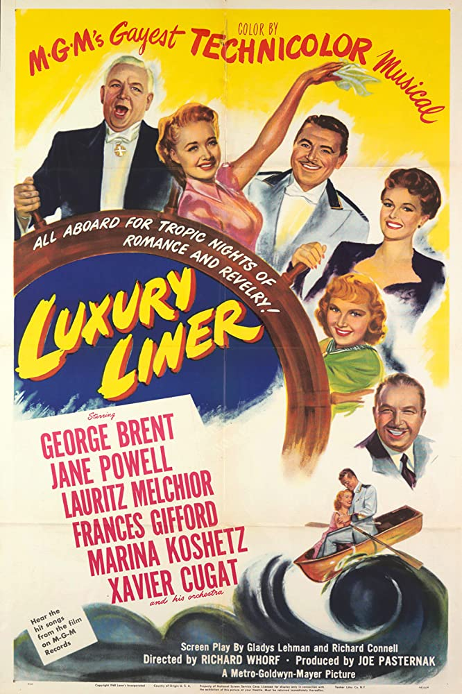 Jane Powell, George Brent, Xavier Cugat, Frances Gifford, Marina Koshetz, and Lauritz Melchior in Luxury Liner (1948)
