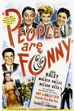 Jack Haley, Frances Langford, Ozzie Nelson, Rudy Vallee, and Helen Walker in People Are Funny (1946)