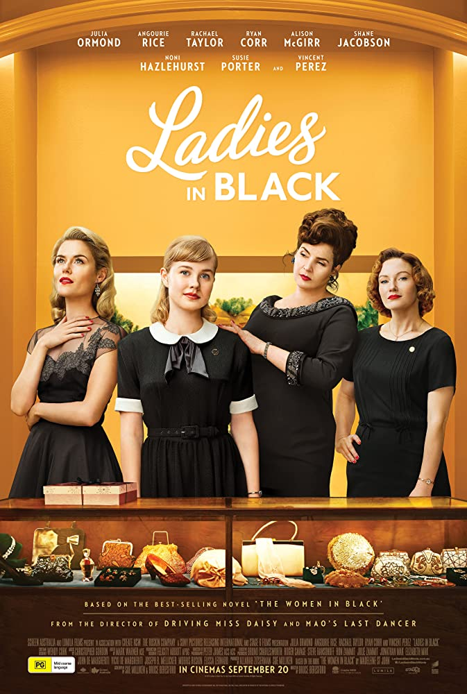 Julia Ormond, Rachael Taylor, and Angourie Rice in Ladies in Black (2018)