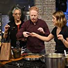Jesse Tyler Ferguson, Mika Leon, and Carla Hall in All in the Family (2019)